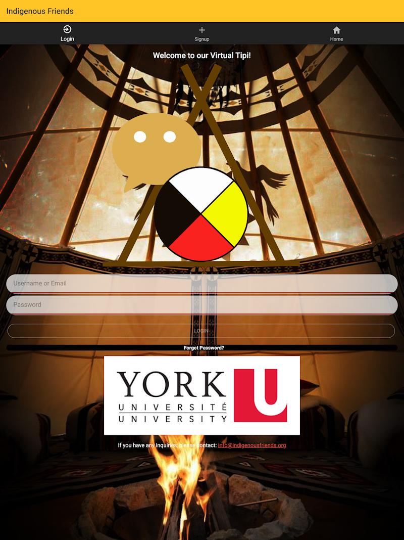 Скриншот Indigenous Friends App
