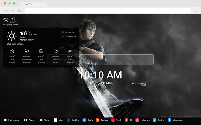 Final Fantasy Pop Game HD New Tabs Theme