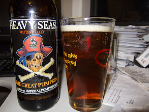 Photo: This imperial Pumpkin Ale from Baltimore brewer Heavy Seas has a nice, pumpkin pie flavor with lots of cinnamon and spice. There's some slight sweetness but not too much. Drinkability is good and the 8% ABV is well hidden.