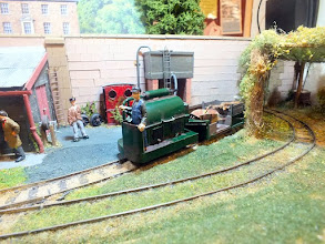 Photo: 010 An unusual and attractive little locomotive at work in Willoughby's Garden .