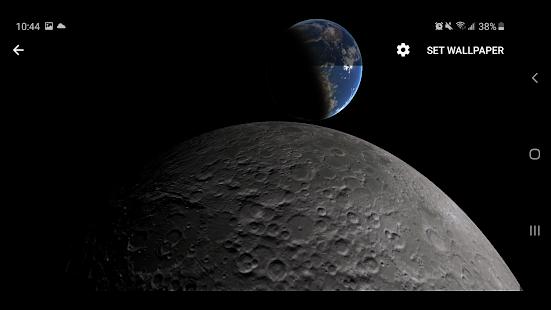 Earth & Moon Parallax 3D Live Live