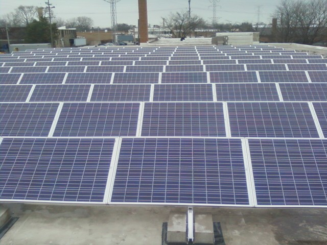 Photo: Lake Line Deliveries' central warehouse is now powered by 37.5 kW of solar energy