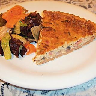 Leek, pancetta, mushrooms and Sbrinz cheese Quiche Lorraine