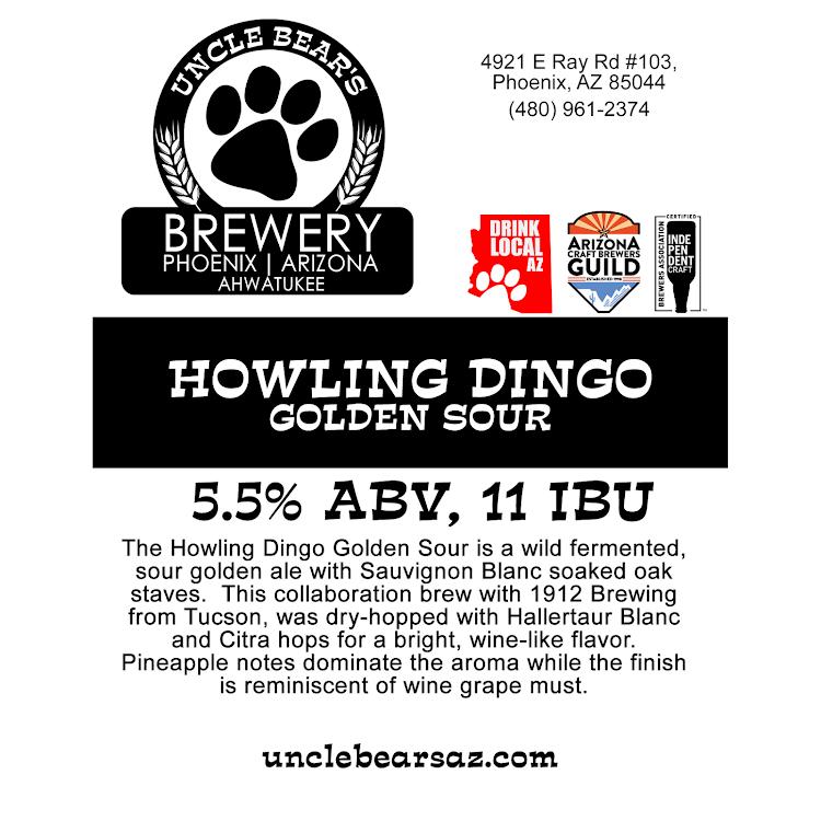 Logo of Uncle Bear's Howling Dingo Golden Sour Ale