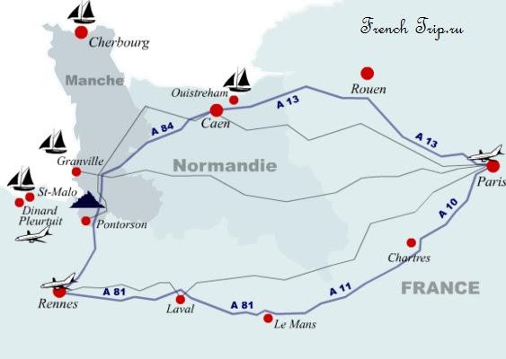 как добраться в Mont Saint-Michel (аббатство Мон Сен-Мишель)