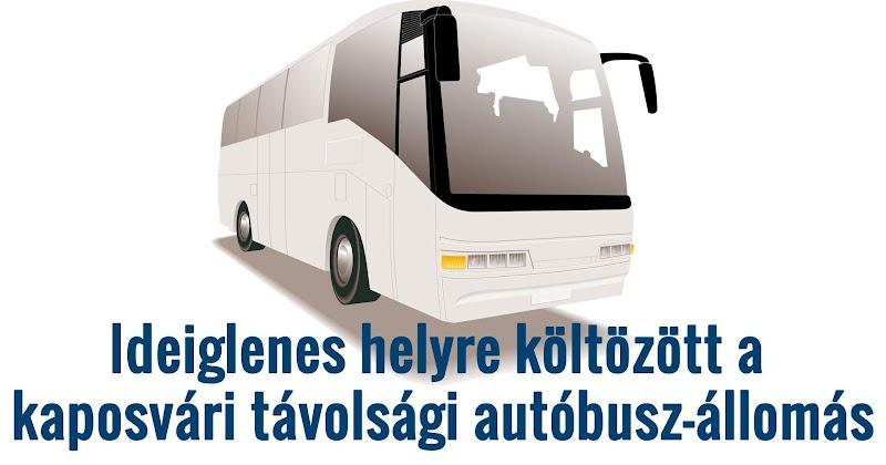 Ideiglenes helyre költözött a kaposvári távolsági autóbusz-állomás