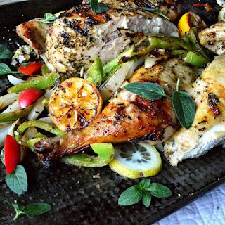 Lemon Oregano Greek Grilled Chicken Recipe