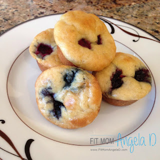 21 Day Fix Berry Pancake Mini Muffins.