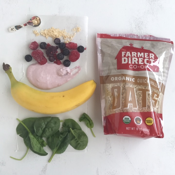 High Fiber Mixed Berry & Oat Smoothie Recipe