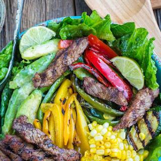Asian Sesame Steak Fajita Salad