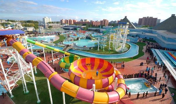 Um Parque Aquático em Pyongyang