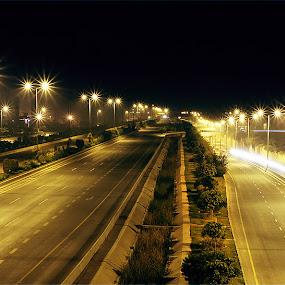 Untitled by XeeShan Ch - City,  Street & Park  Street Scenes ( pakistan, lahore, lahore airport, xeeshan, night )