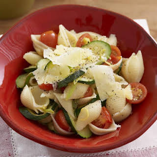 Pasta Shells with Zucchini and Lemon.