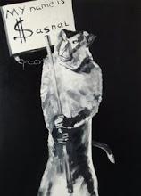 """Photo: Whielki Krasnal """"My name is Sasnal"""". 2008. Oil on canvas, 117 x 81"""