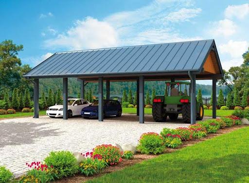 projekt G304 wiata garażowa