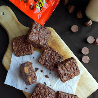 Peanut Butter Cup Crack Brownies.