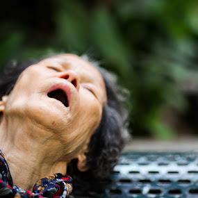 Dead or Alive? by Sean  C - People Portraits of Women ( woman, street, dead, alive, portrait )