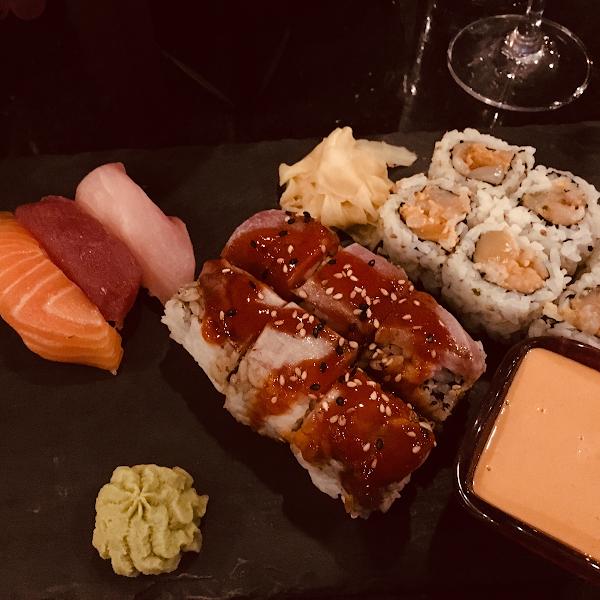 Gluten Free Sushi, one with gf tempura