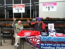 Photo: Vets volunteering at Story County Freedom Flight fund raiser