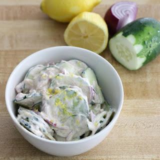Creamy Cajun Cucumber Salad