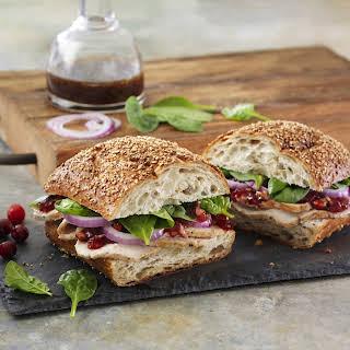 Balsamic Cranberry Turkey Sandwich.