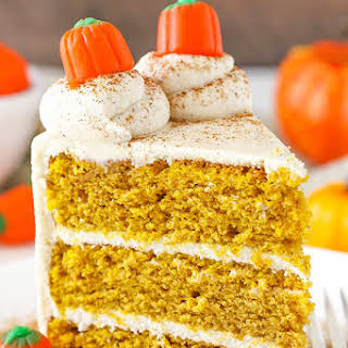 Pumpkin Layer Cake with Whipped Cream Cheese Frosting.