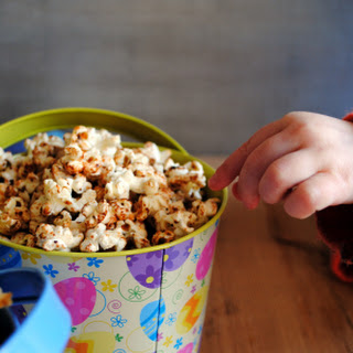 Buttered Maple and Cinnamon Popcorn; Smoked Paprika and Parmesan Popcorn