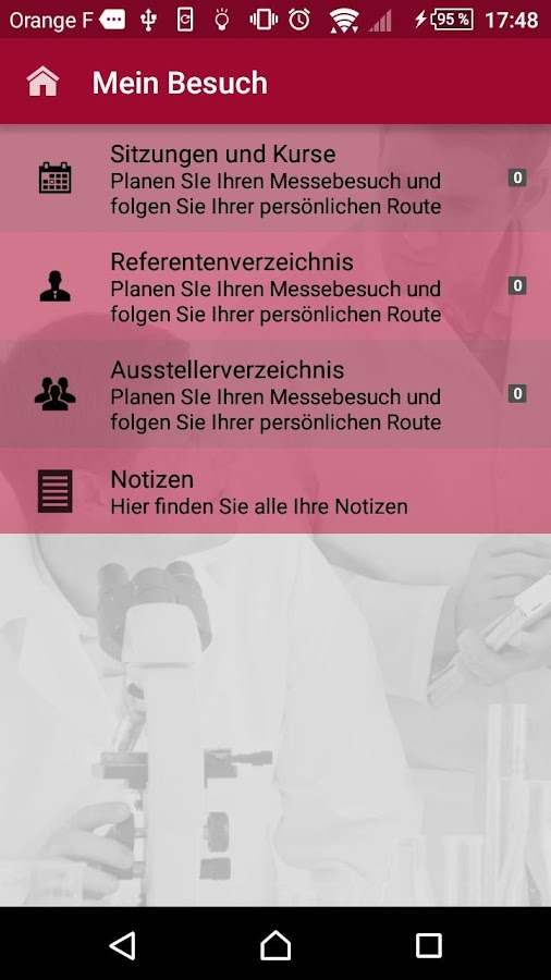 DKLM Kongress-App 2016- screenshot