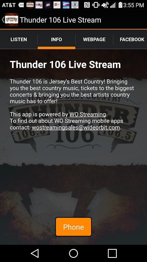 Thunder 106 Live Stream- screenshot