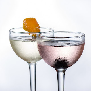 The Fairbank Cocktail and the Pink Martini.