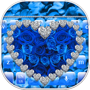 Blue Rose Diamond Keyboard for PC