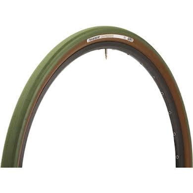 Panaracer GravelKing 700 x 38mm Tire Nearly Slick Tread, Military Green Tread