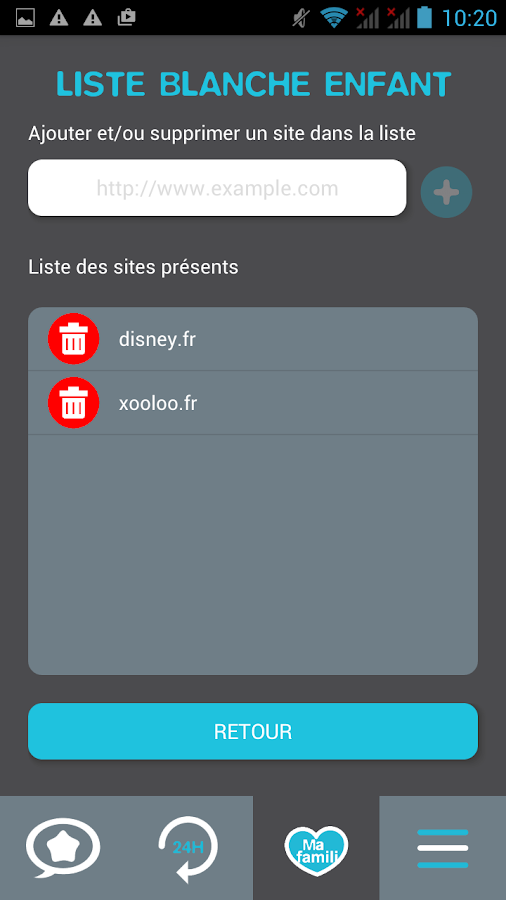 Familibox – Capture d'écran