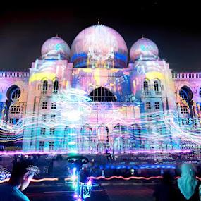 Putrajaya light festival by Affan Nasruddin - Abstract Patterns ( putrajaya, slowshutter, nightscape, light trails, malaysia )