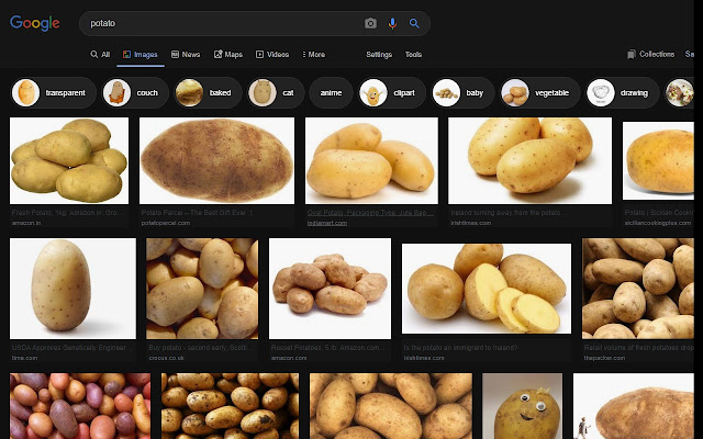 Dark Theme for Google Image Search