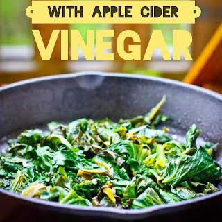 Braised Kale with Apple Cider Vinegar.