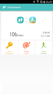 S Pedomter - Calorie Widget - náhled