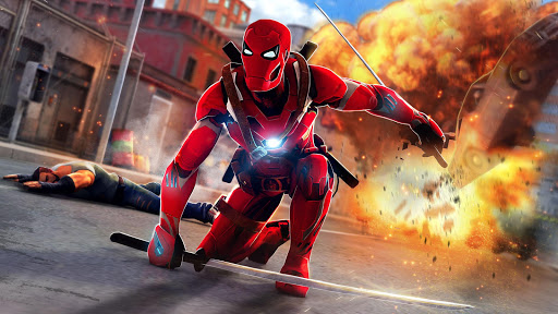 Superhero Ninja Battle: Streets Fighting Robot Apk 1