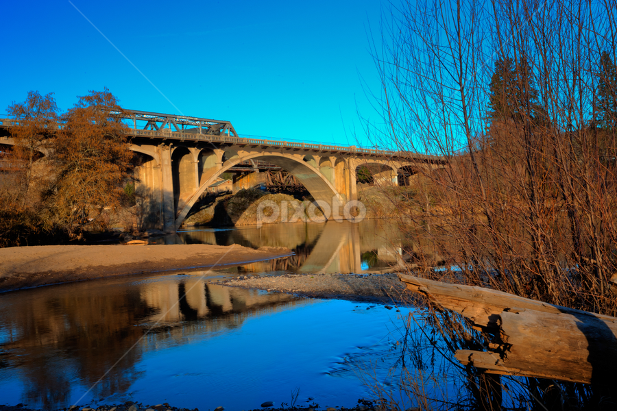 Gold Hill Bridges by Jim Adams - Buildings & Architecture Bridges & Suspended Structures ( oregon, concept, peaceful, outdoors, outdoor, oregon coast, newport, architecture, scenic, bridge, newport bridge, outside )