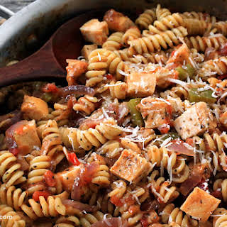 One Pot Chicken and Pasta.