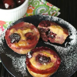 Banana Cherry Custard Muffins.