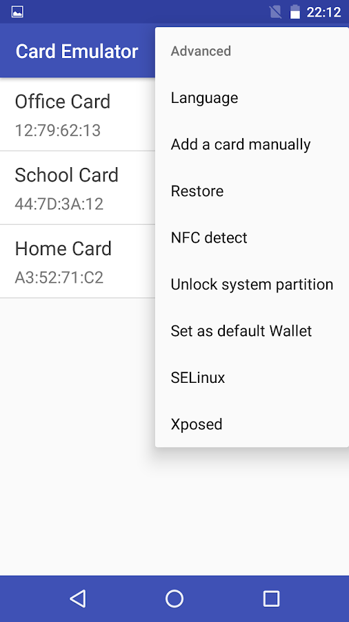 NFC Card Emulator- screenshot