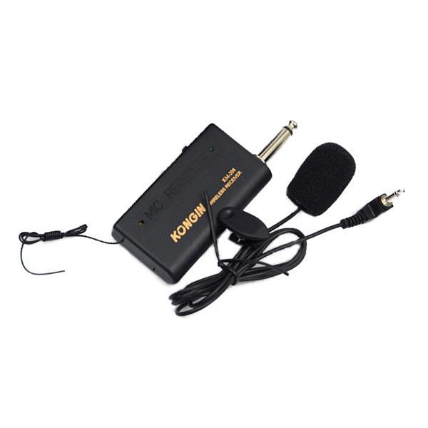 Microphone Sans Fil Transmetteur FM Récepteur Lavalier Lapel Clip Système Mic Système AAACFP www.avalonkef.com.jpg