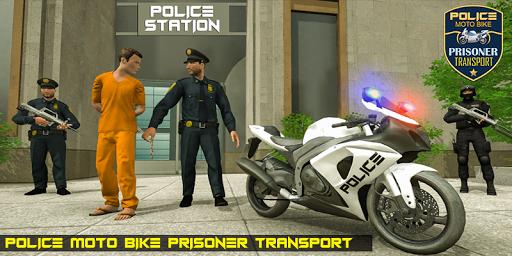 Police Moto Bike Prisoner Transport 3D screenshots 1