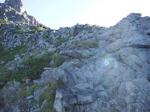 また岩稜の登りに
