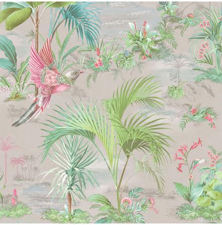 Pip 2020 Palm Scene Tapet med palmer - Grå