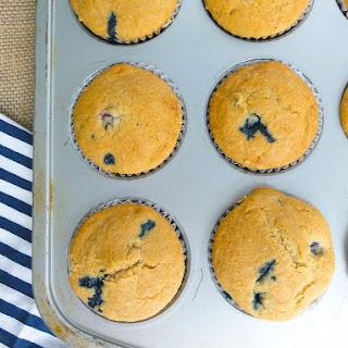 Whole Wheat Blueberry Muffins.