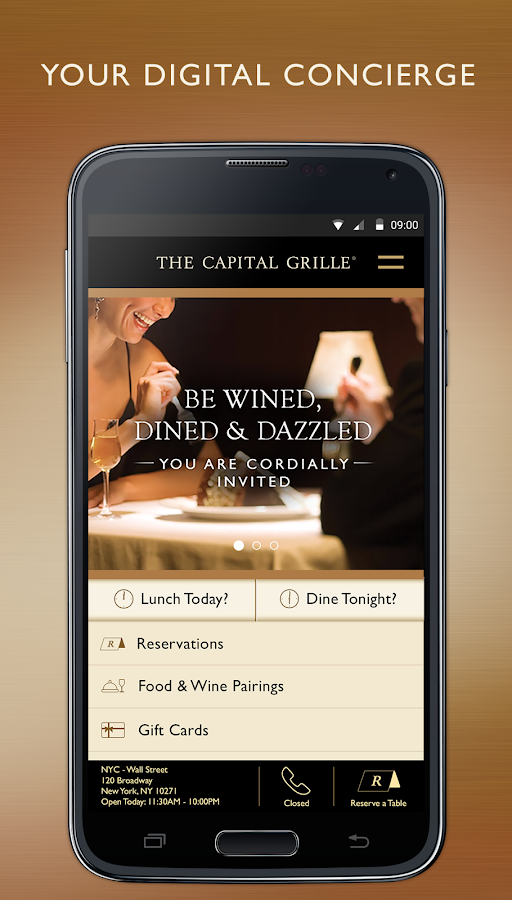 The Capital Grille Concierge- screenshot