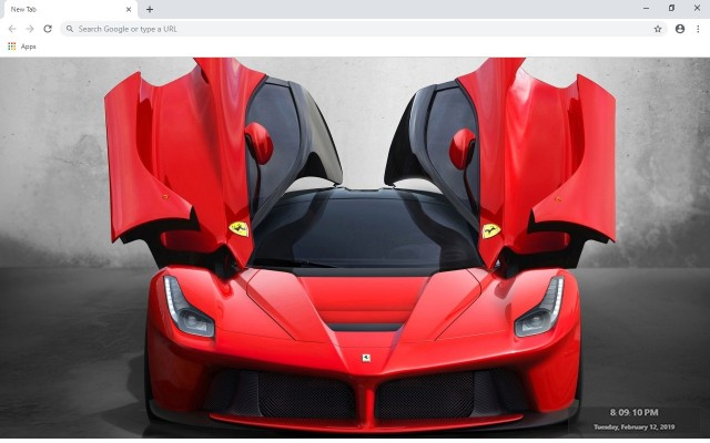 Ferrari New Tab & Wallpapers Collection