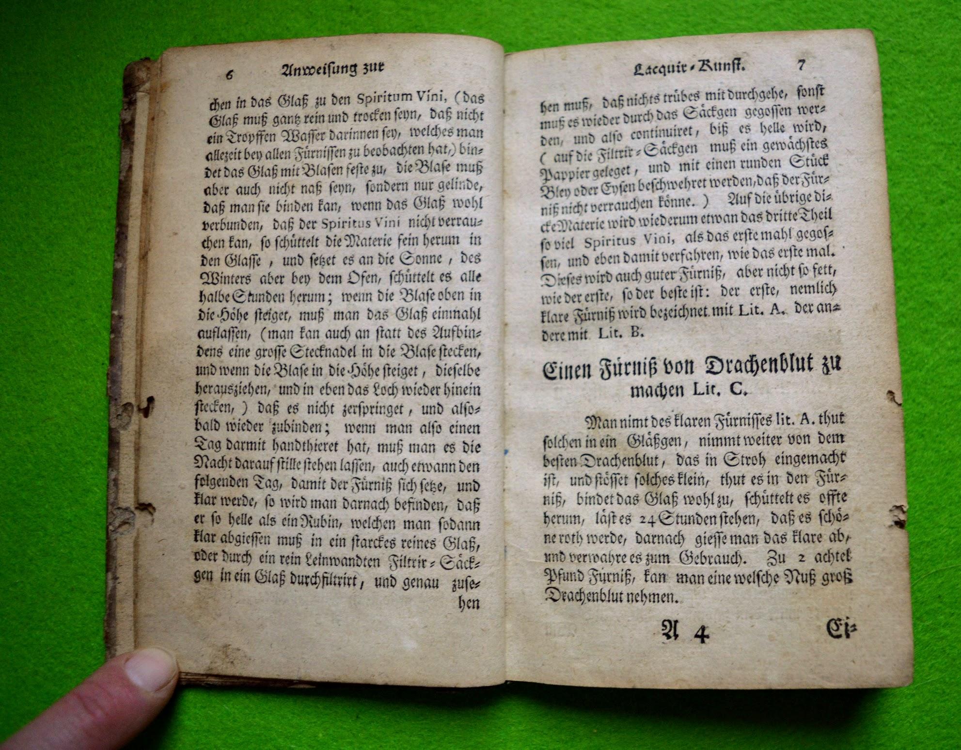 Lackierbuch 1755 - Drachenblut